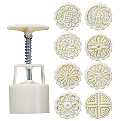 Amazon.com: 1KTon DIY Powerful Mooncake Molds Flower Square ...