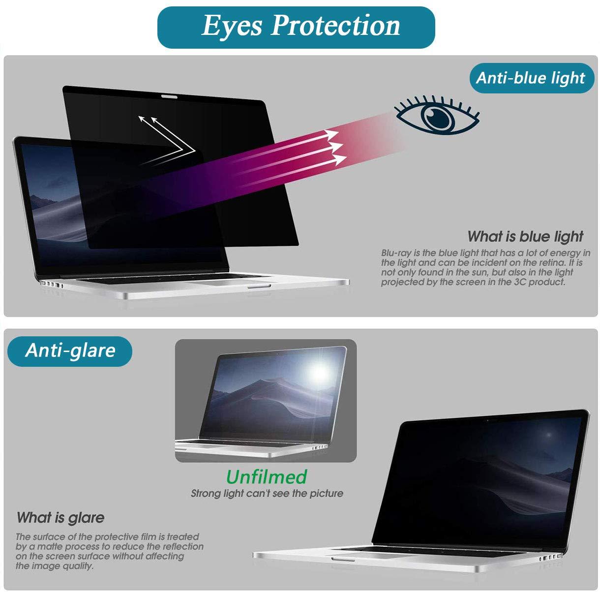 2016-2019 Filtro de privacidad magn/ético FiiMoo Magn/ético Protector de Pantalla Premium Privacy Compatibile con MacBook Pro 13 Easy On//Off Privacy Filter para MacBook Pro 13