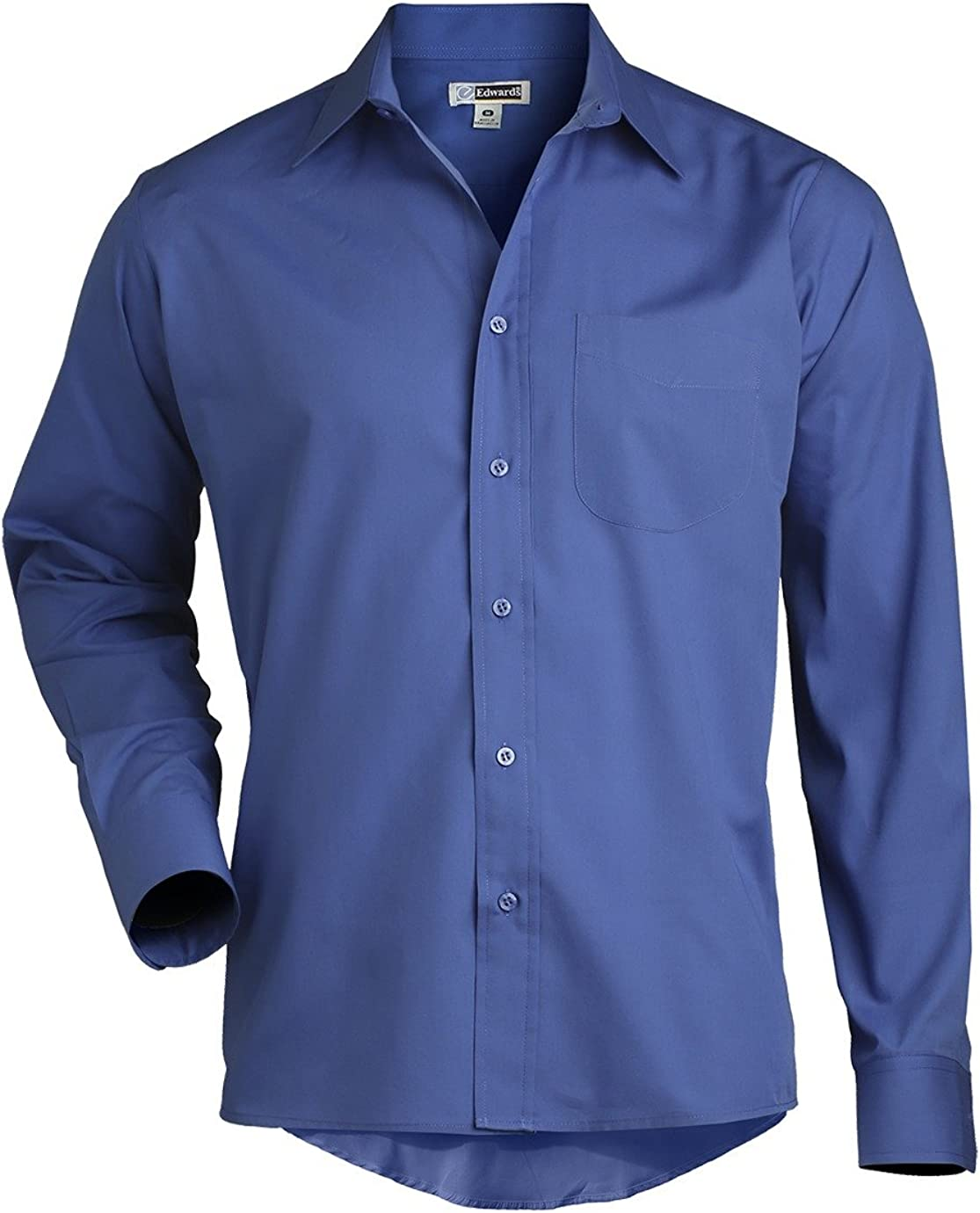 Mens Long Sleeve Broadcloth Shirt 1363 by Edwards for Compo Clothing