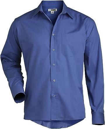 Ed Garments Mens Long Sleeve Broadcloth Dress Shirt FRENCH BLUE XXXX-Large 35