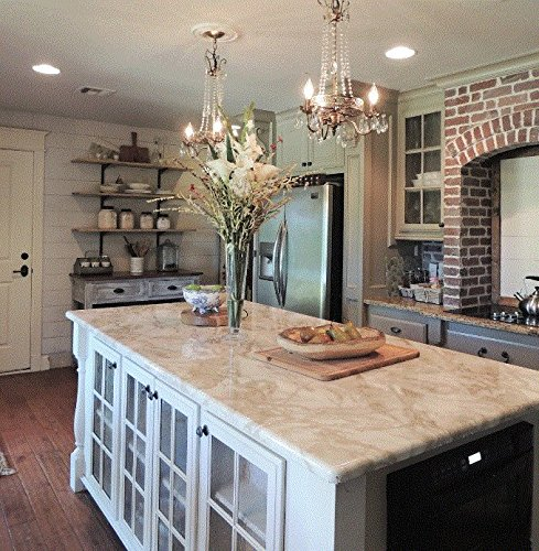 Countertop Granite Marble White Marble Riviera Creme Look 36 W X 144 L Why Paint Just Peel And Stick