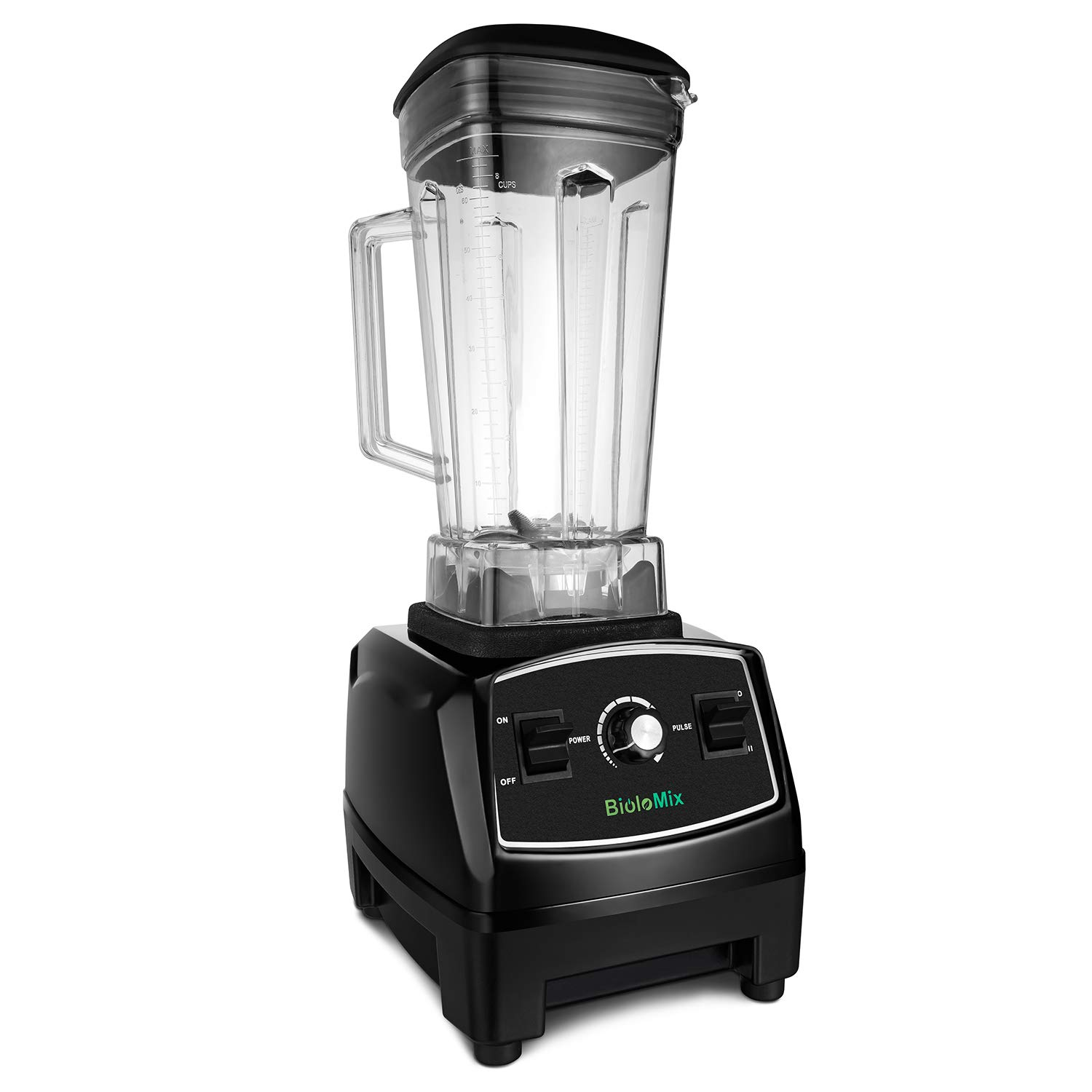 Countertop Blender Professional Commercial Mixer Blender 70oz with 2200 Watt Base,Total Crushing Technology for Smoothies, Ice and Frozen Fruit (Black)