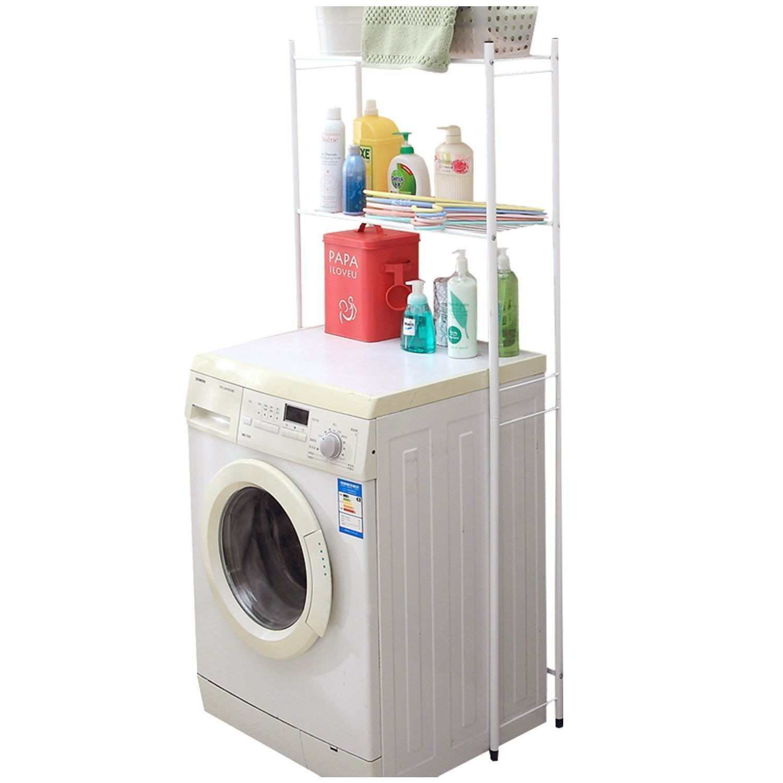 DIDIDD Shelf-Hwf Bathroom Shelves Washing Machine Multifunction Double Racks Bathroom Storage Rack White Glove