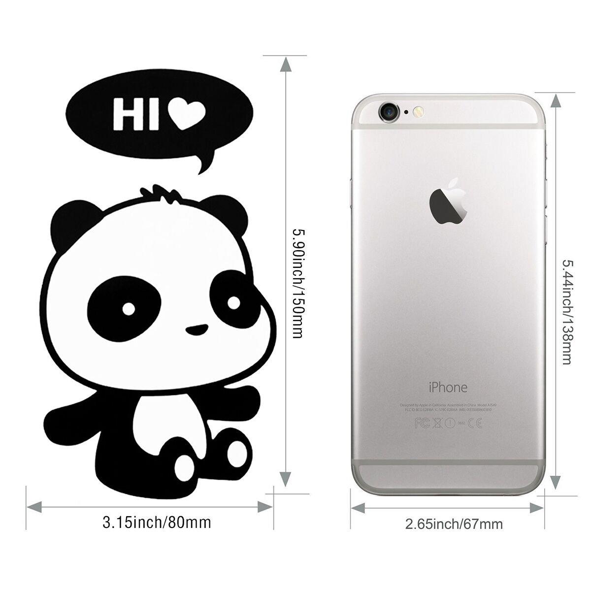 HopMore Pegatinas 6 Piezas Lindo Panda, Stickers para Infantil, Decorativa Pegatina para Pared Maleta Interruptor Macbook Laptop Snowboard Equipaje Coche de ...