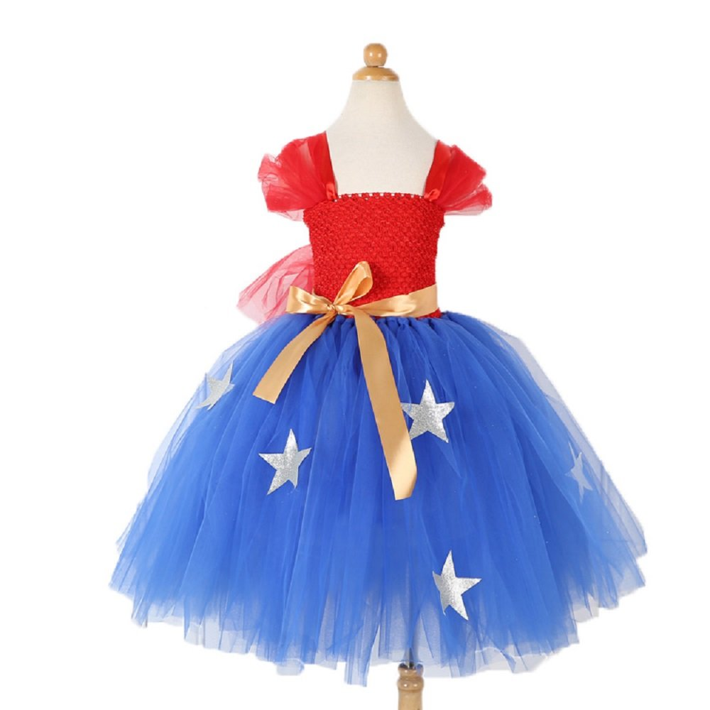 KooNicee 4th of July Dresses for Girls - July 4 Tutu for Parade Back to School Party Gift