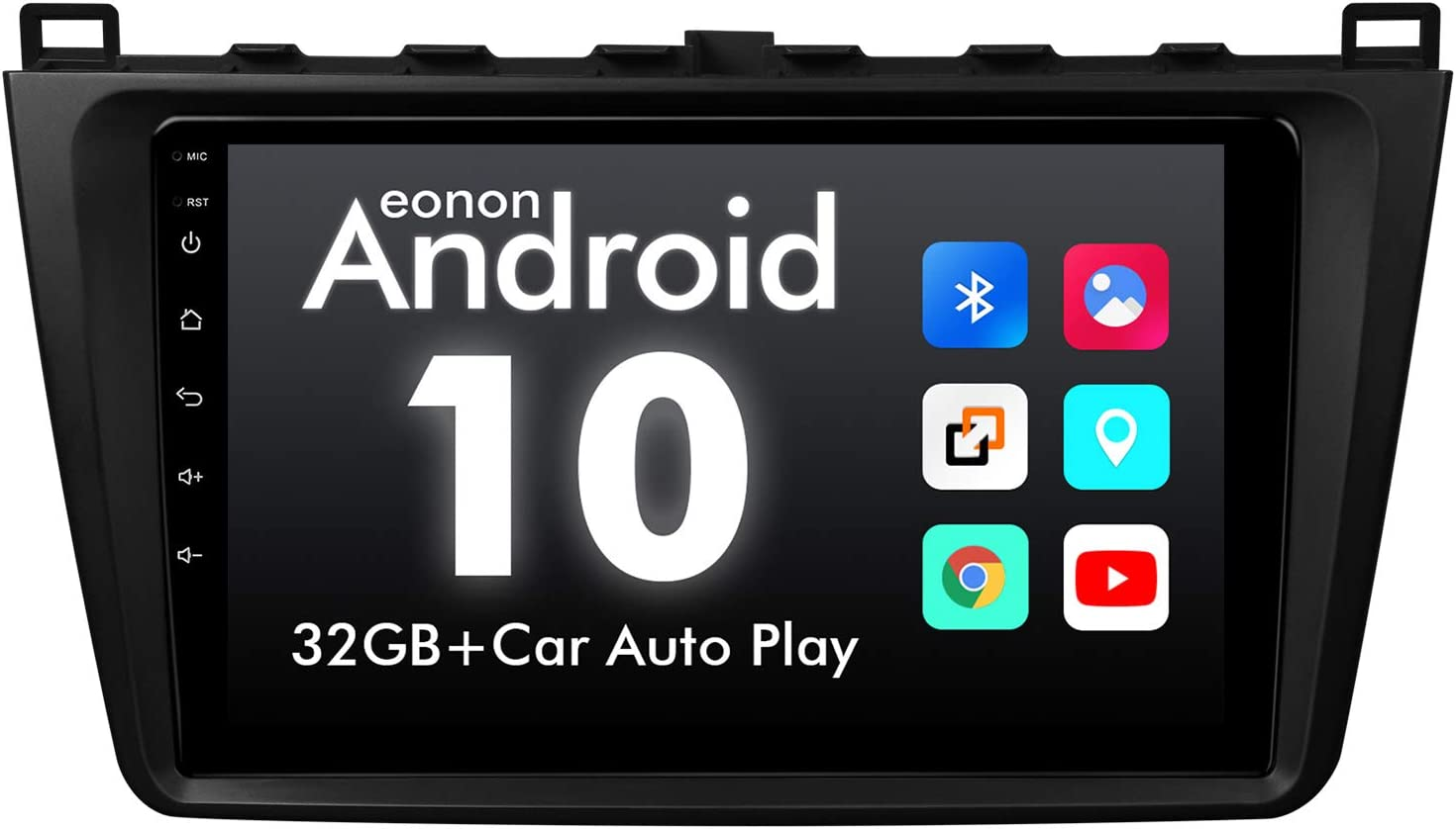 2020 Newest Android Car Stereo Android 10 Car Stereo,Eonon Mazda 6 2009-2012 Android 10 Car Stereo 9 Inch IPS HD Full Touchscreen Car GPS Navigation Built-in CarPlay and DSP Head Unit-GA9498B