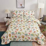 Oliven 3 Pcs Beach Bedding Quilts Bedspread Set
