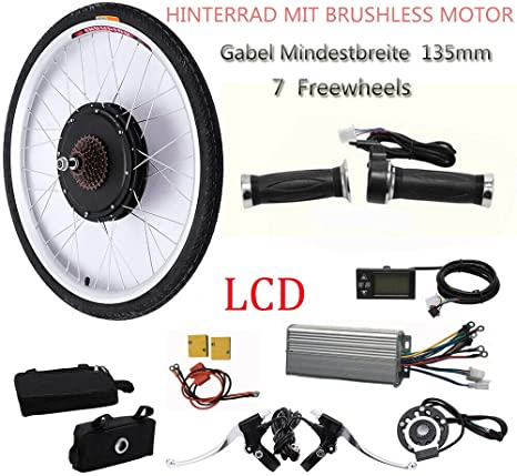 OUKANING - Kit de conversión para Bicicleta eléctrica de 26 ...
