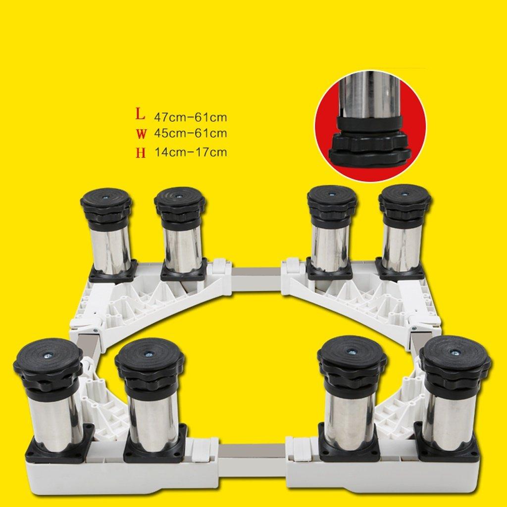 Stainless Steel Heighten Stent Washing Machine Base Fridge Bracket -Casters (Size : B)