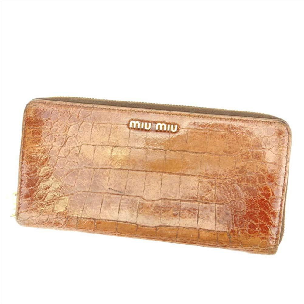 (miumiu) ミュウミュウ 長財布 ラウンドファスナー レディース クロコダイル調 中古 E978   B01LYL0C4V
