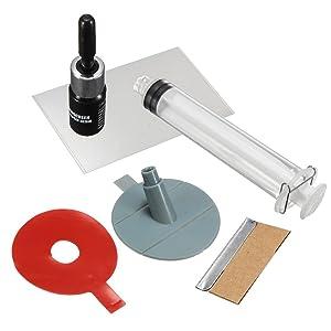 Windshield Repair Kit - SIKEO Crack Premium Repair Kit & Windscreen DIY Chip Windshield Auto Glass Wind Screen
