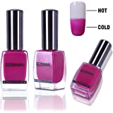 GOSMAN Temperature Color Changing Nail Lacquer Varnish Thermal Color Change Nail Art Polish Quick Dry 60 Seconds 15Ml 15001
