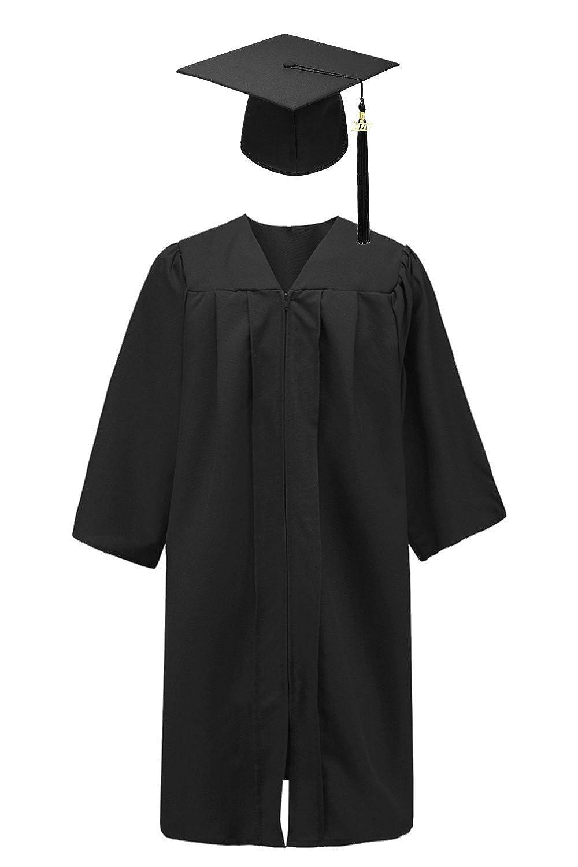 b8a1b14df0f Amazon.com  Annhiengrad Unisex Adult Matte Graduation Gown Cap with Tassel  2018 2019