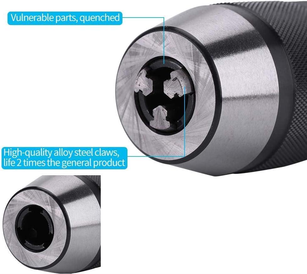 DXX-HR Perforar y Chuck Arbor 1-13mm 1//2 de acero auto-apriete sin llave Torno Portabrocas y MT2-B16 Arbor