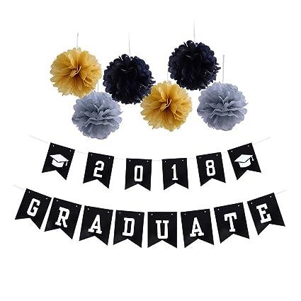 amazon com 2018 graduate banner graduation party supplies