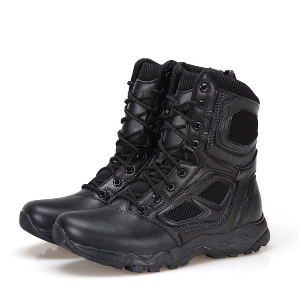 BE DREAMER Mens Lightweight Tactical Side-Zipe Boots,Black,US 10 by BE DREAMER (Image #1)