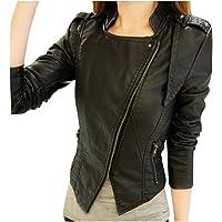 Sunward Coat for Women, Women Leather Zipper Jacket Slim Biker Motorcycle Coat Punk Outwear