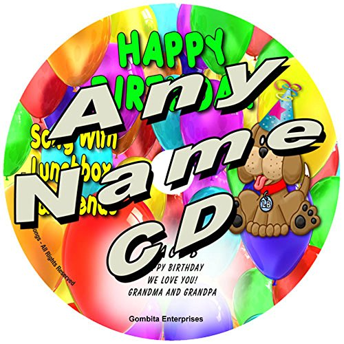 """Gombita Enterprises Name Personalized Music CD - (Any Name) - Friendly Songs Happy Birthday Song - Music CD and """"New"""" Digital Content is HERE! - -"""