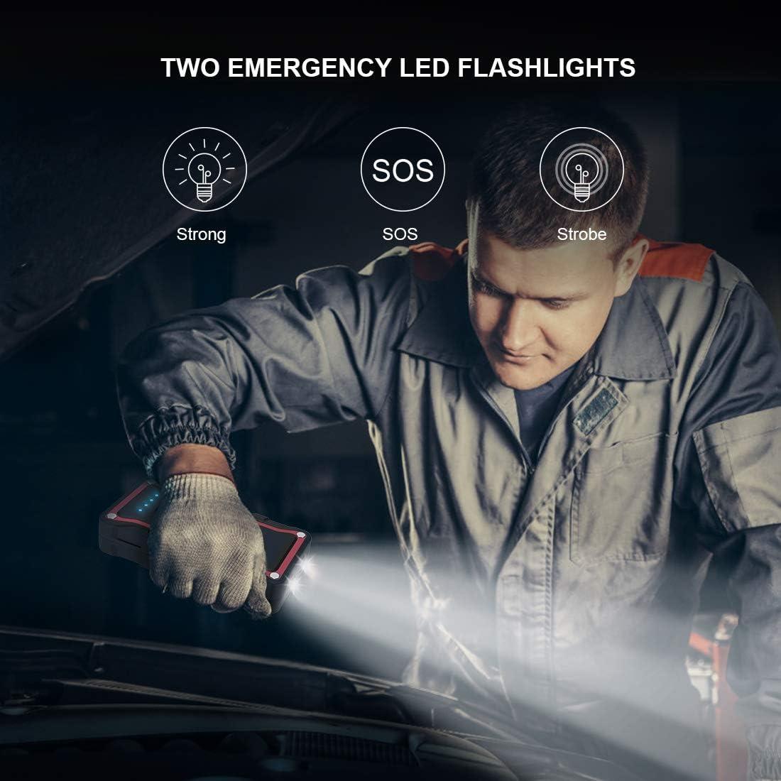 geeignet f/ür alle Benzin- oder 7.0L Diesel YABER Motorrad-Starthilfeger/ät 1500A 20000mAh Auto Emergenz Wasserdicht IP68 Jump Starter Booster mit QC 3.0 und Typ C