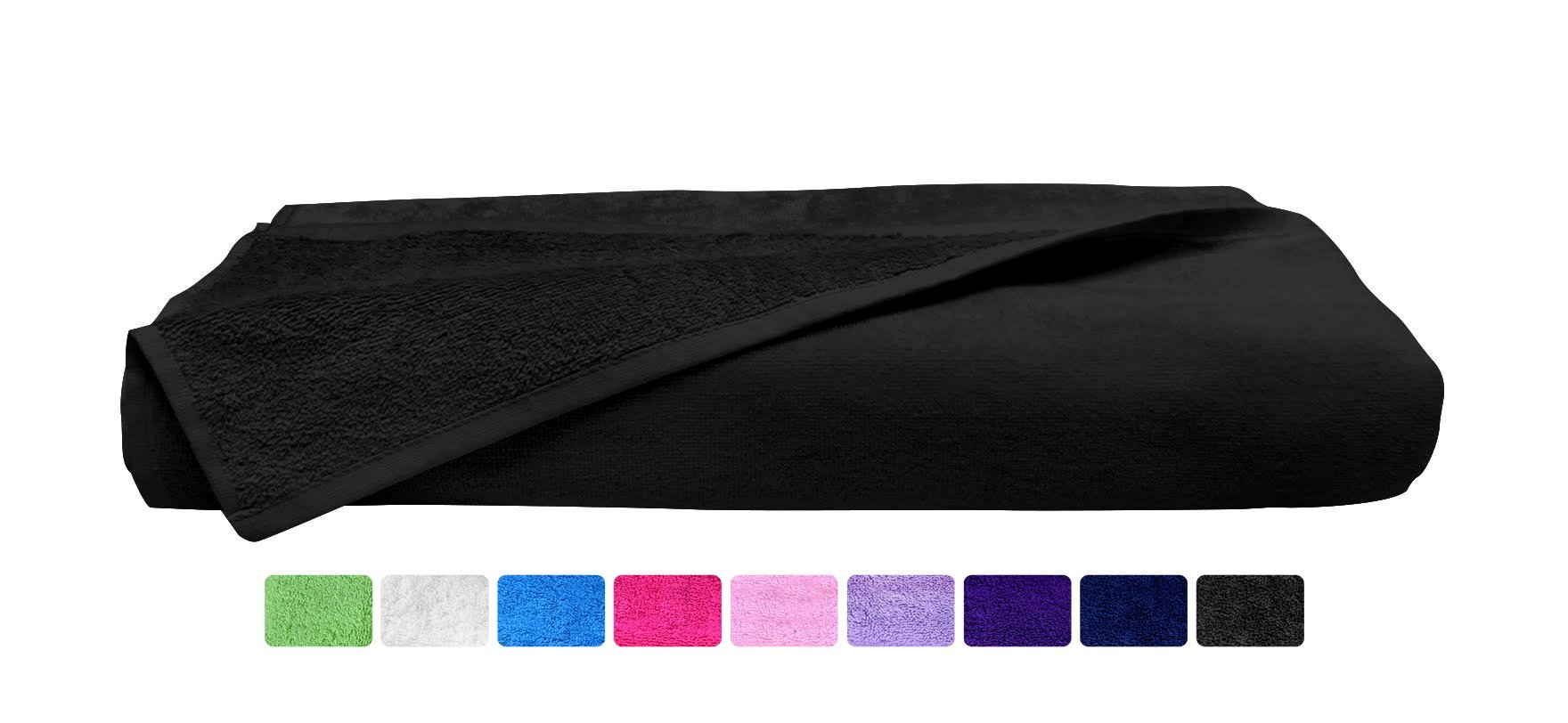 Beach Towel - Extra Large - Black - %100 Soft Turkish Cotton ( 35'' x 59'' ) ( Hotel Spa Bath Collection ) - Absorbent, Quick-Dry Eco Friendly (Black, Pack of 4 Towels)