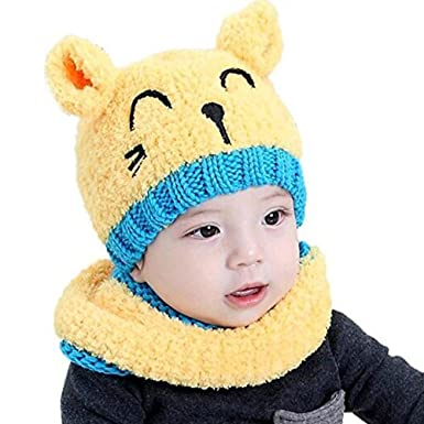 af414a0e9 Eastlion Newborn Baby Hat Autumn And Winter 0-3-6-12-20 Months Baby ...