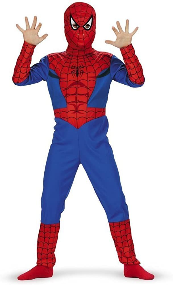 B00005JHKE Spiderman, Classic - Size: Child S(4-6)(Discontinued by manufacturer) 61DcXtBJJOS