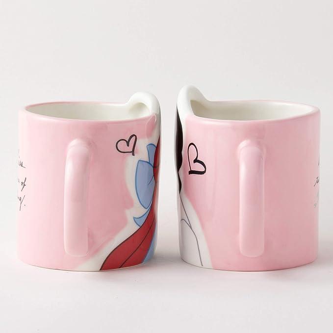 Disney Princess the Little Mermaid Pair Mug Cup Kiss Ariel SAN2473 From Japan