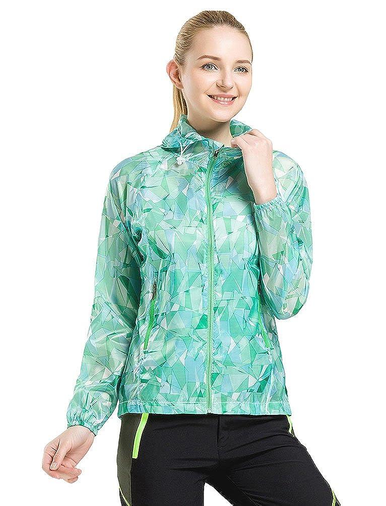 ZKOO Esterna Giacca con Cappuccio per Uomo Donne Sportiva Ultrasottile Anti-UV Impermeabile Giacca A Vento Softshell Giacca Activewear