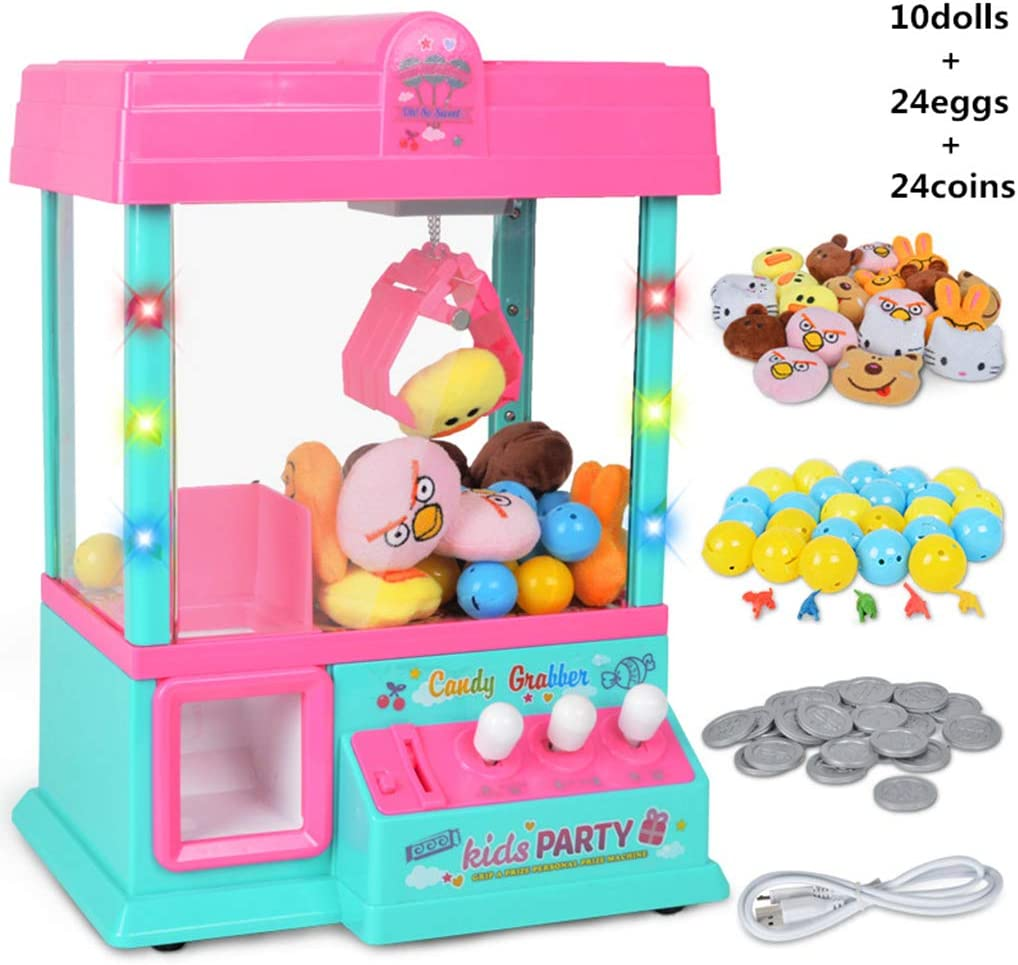 LAOSI Garra máquina música Ligera 60s Premio Tiempo del Caramelo en Forma de Mano de la máquina expendedora dispensador cumpleaños para Niños Niñas