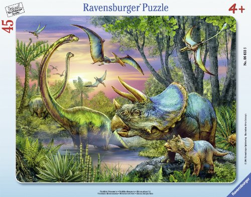 Ravensburger Dinosaurs at Dawn Frame Puzzle (45-Piece) (Dinosaur Dawn Floor Puzzle)