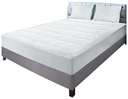 Amazon quilted fitted fleece mattress pad king mattress quilted fitted fleece mattress pad king mattress cover stretches up to 16 inches solutioingenieria Image collections