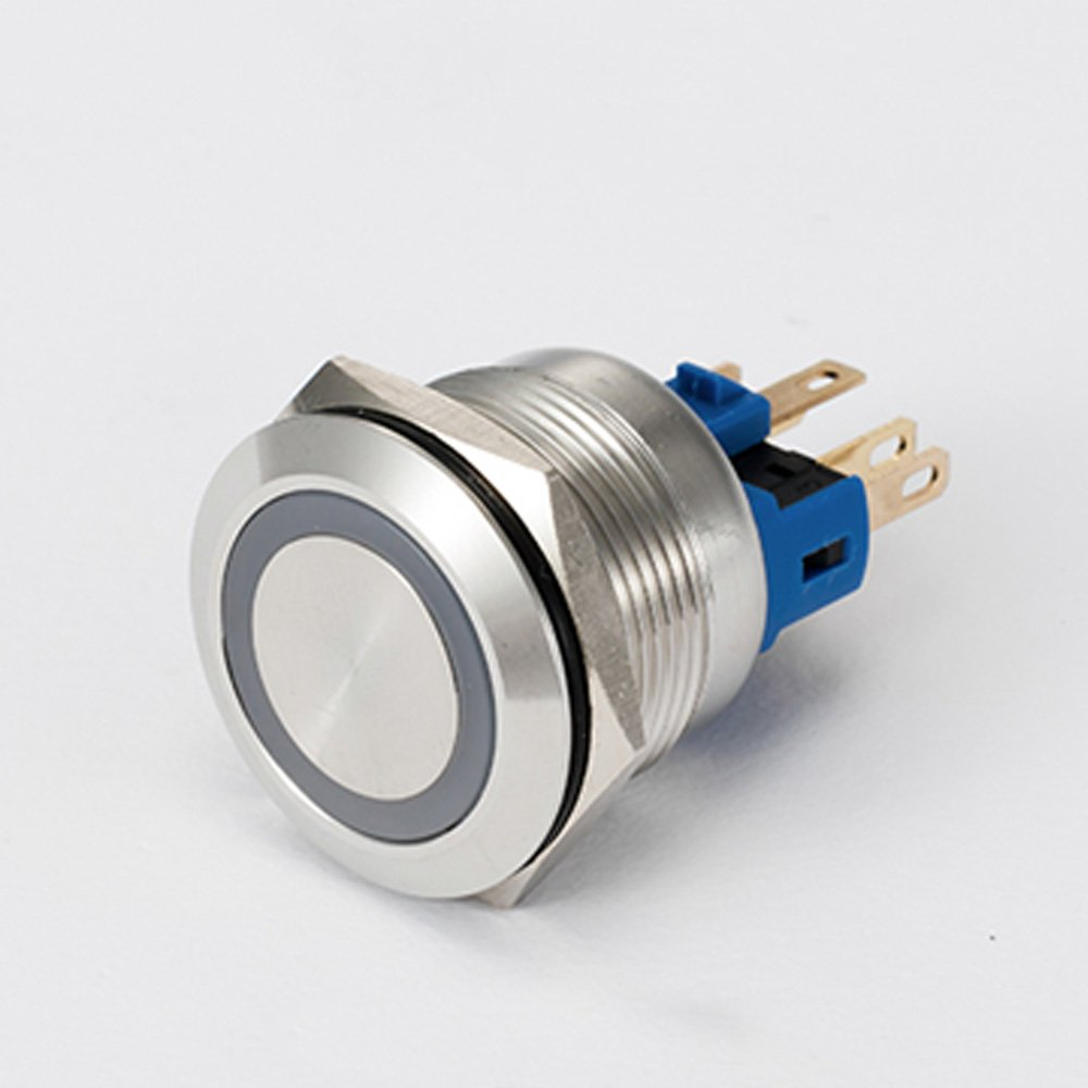 Api Ele 3 Year Warranty 22mm Momentary Push Button Wiring Setup For Blue Led 12v Stainless Steel Switch Angel Eye Waterproof Round Metal Self Reset 7 8 1no 1nc