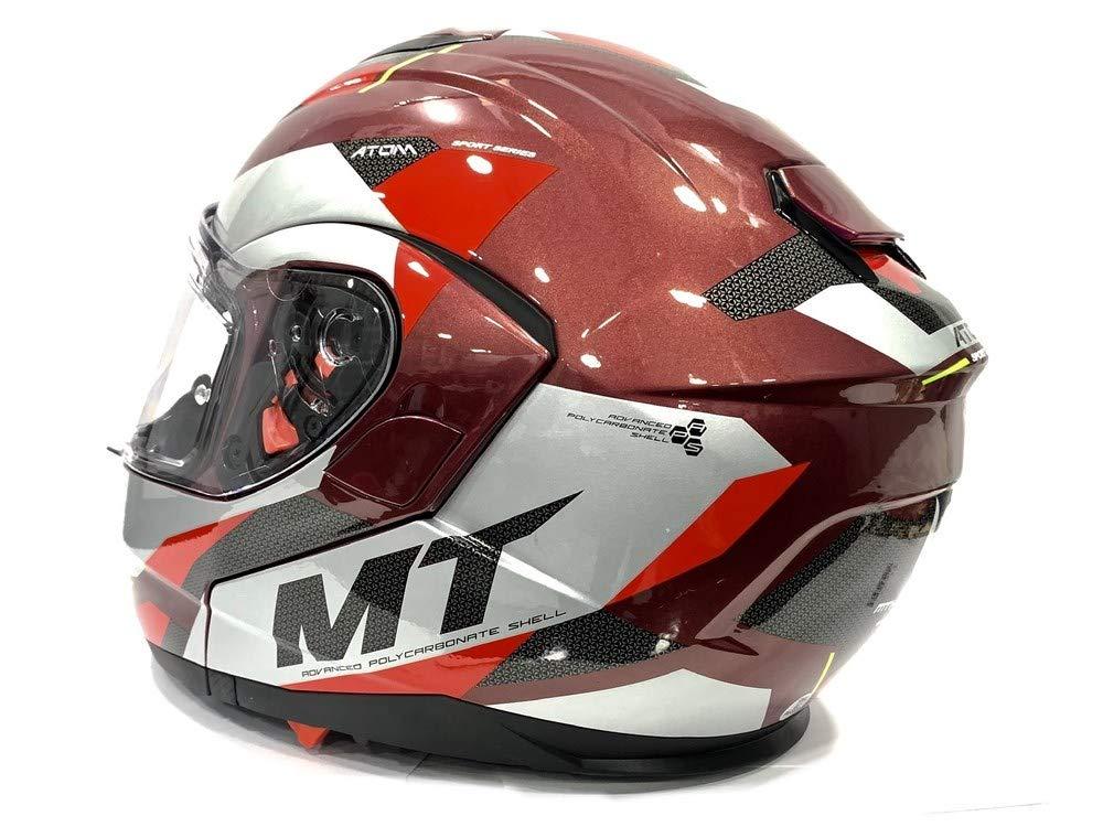MT 55-56 cm Blue//Grey Modular Flip Up Helmet ATOM SV TRANSCEND E7 Red//Grey with PINLOCK Included S