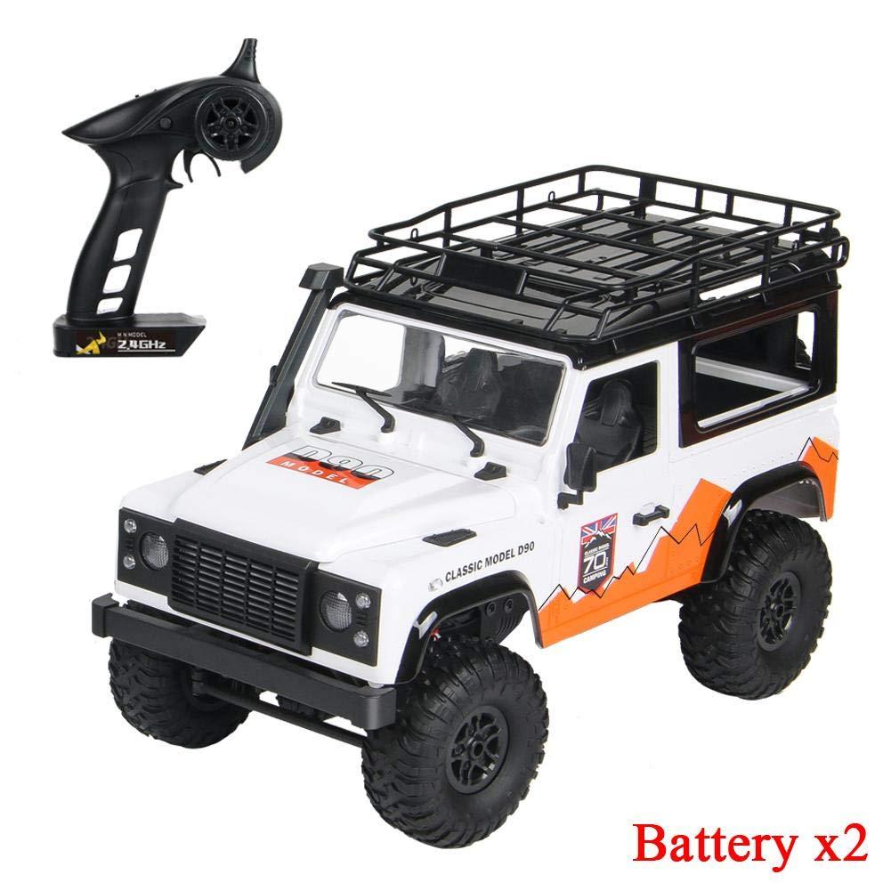 runnerequipment Coche de Control Remoto MN-99 para D90 Land Rover Anniversary Edition con 2 bater/ías