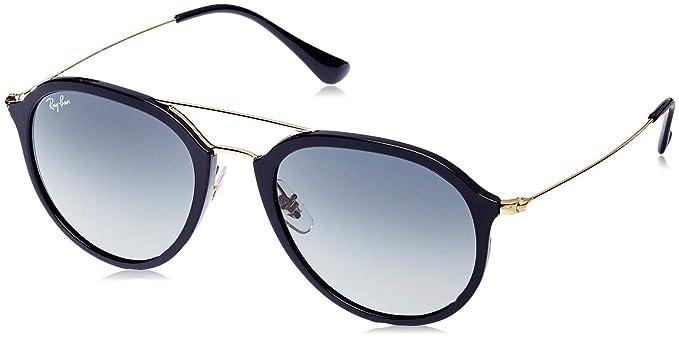 RAY-BAN Rb4253 Gafas de sol, Negro/Plata/Azul claro Degradada (Black), 53 Unisex-Adulto