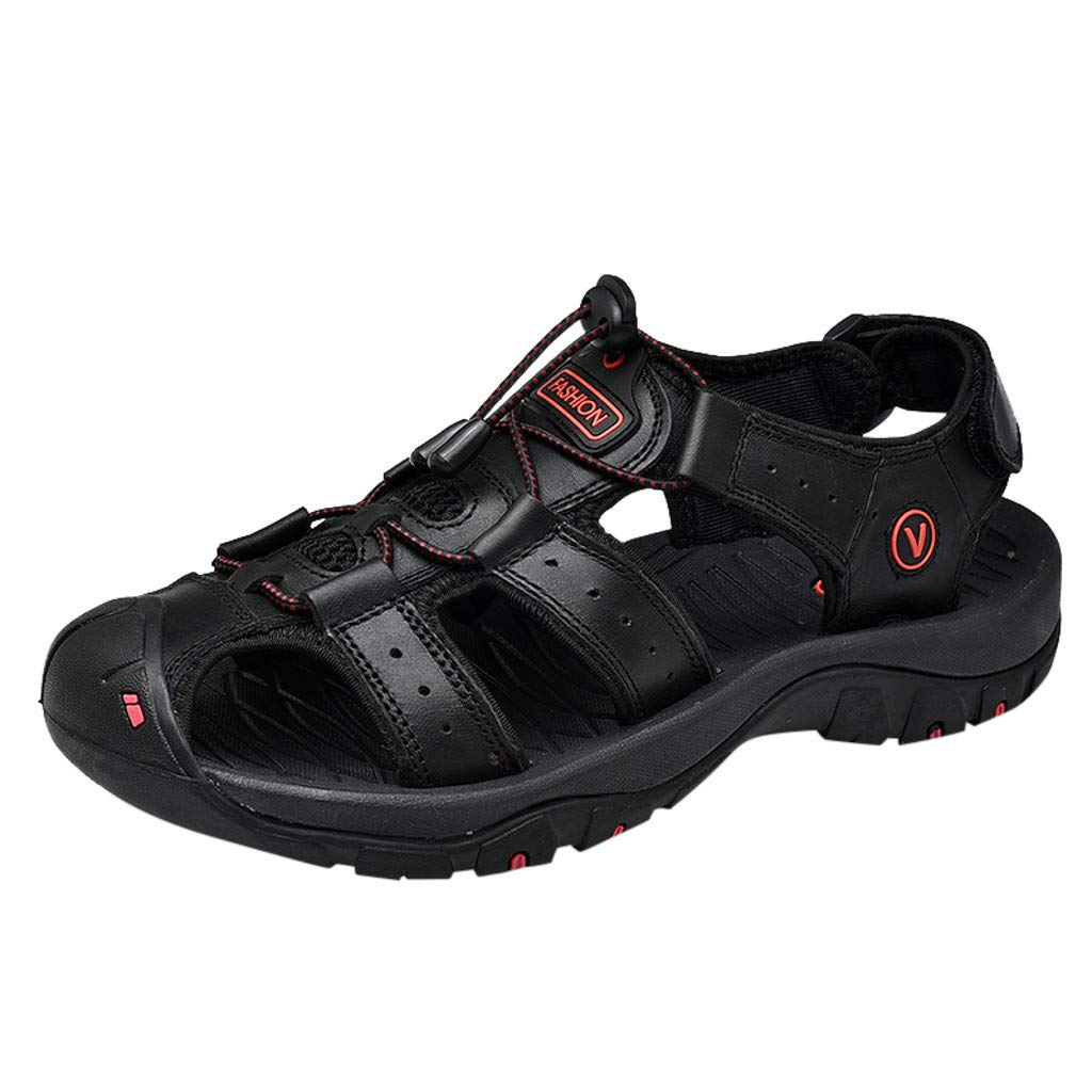 KIKOY Sandal Mens Flats Hiking Shoes Athletic Sports Beach Water Sandals