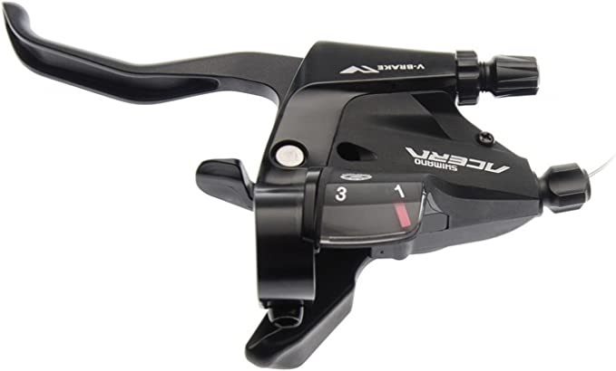 Shimano Acera Schalt+Bremshebel ST-T3000 V-Brake 3-fach 3-Finger links silber
