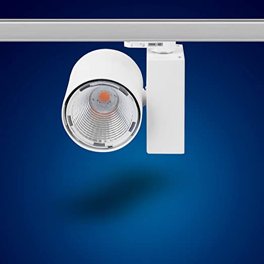 mext Electronic de 3/fases de alimentaci/ón carril Foco 20/W Foco LED 3/fases s27/W Blanco C/álido para Sistema de ra/íles