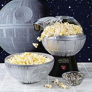 Star Wars Death Star Hot Air Popcorn Maker And One 2 Lb Bag Of Empire Dark Side Popcorn