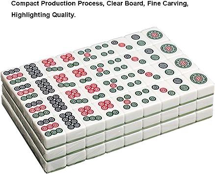 Tarjeta Mahjong 40 mm / 42 mm / 44 mm Mahjong Primera Clase Genuino Esposas domésticas Marca Mahjong Gran Viaje Familia Tiempo Libre (Color : Green, Size : 42mm): Amazon.es: Hogar
