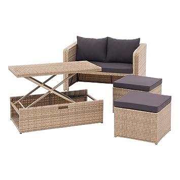 Amazon De Outliv Loungemobel Balkon Kompakt Bern Balkonlounge 4