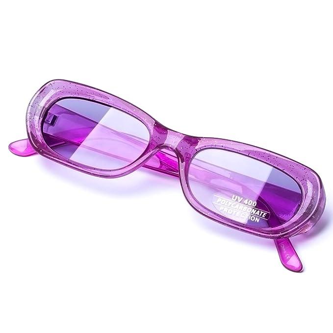 Amazon.com: Gafas de sol vintage ovaladas de estilo Mod para ...
