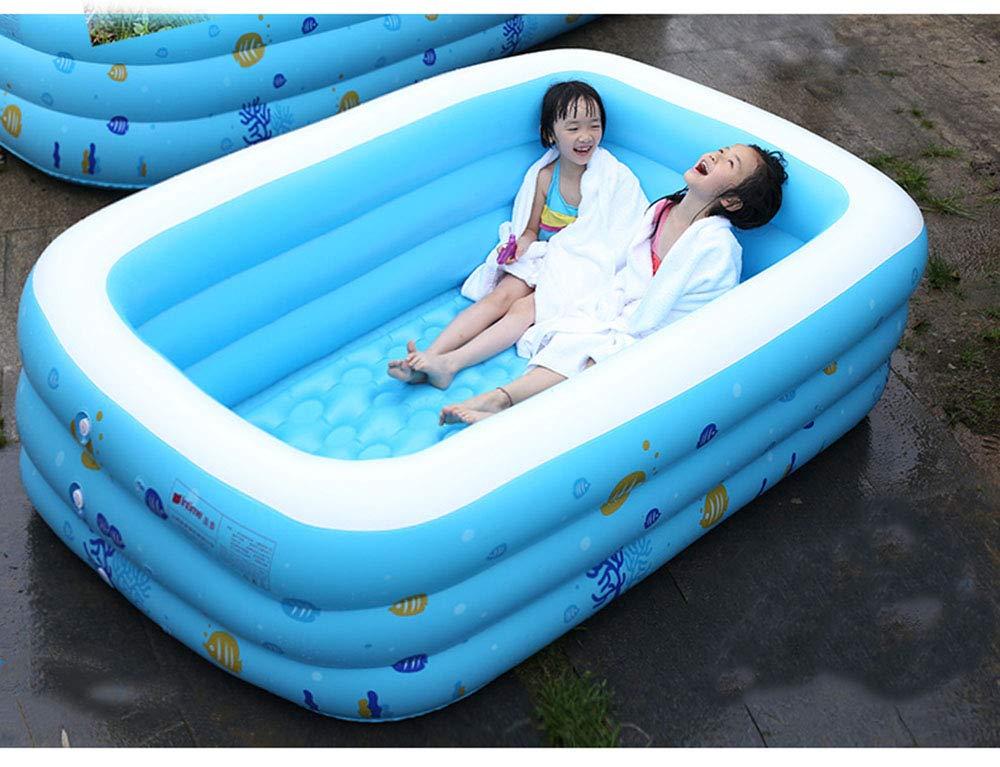 YUHAO(UK) Riesiger aufblasbarer Kinderpool - Familie und Kinder aufblasbarer rechteckiger Pool  1,2 m