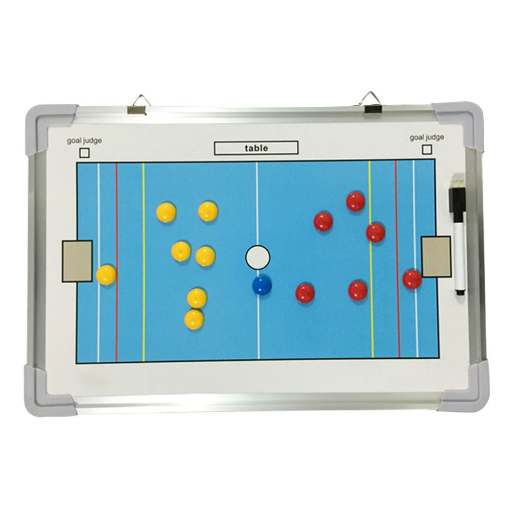 Pulusi Basketball Coaching Board Double-sided Coaches Clipboard Dry Erase w/marker Basketball Tactical Board Coaches' & Referees' Gear