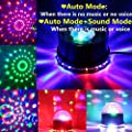 SOLMORE DJ Party Lights Disco Ball Strobe Light Disco Lights 7 Colors Sound Activated DJ Lights LED Stage Light for Birthday Festival Bar Club Party Wedding Show Home 12W
