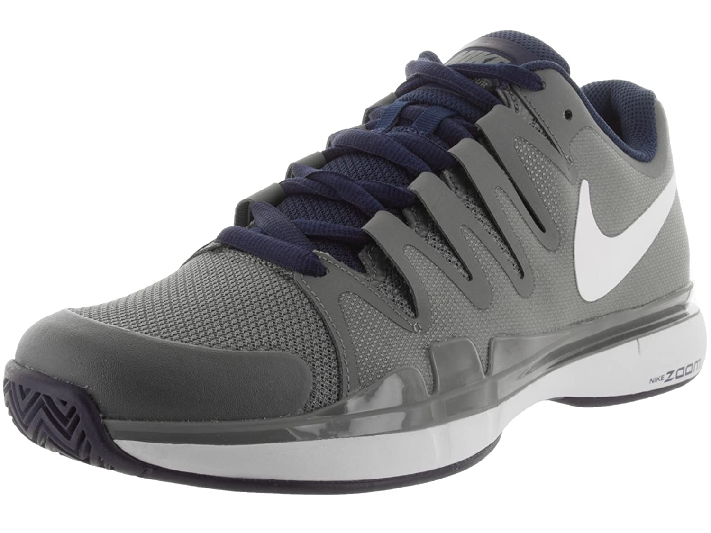 Nike Men\u0027s Zoom Vapor 9.5 Tour Tumbled Grey, White, Midnight Navy and  Phantom Sport Tennis Shoes -7 UK/India (41 EU)(8 US): Buy Online at Low  Prices in ...