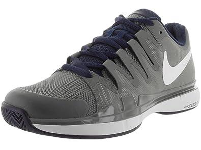 Nike Men\u0027s Zoom Vapor 9.5 Tour Tumbled Grey, White, Midnight Navy and  Phantom Sport