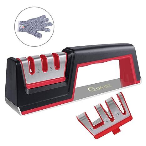 Afilador Cuchillos Profesional Amoladora De Cocina Kit Knife ...