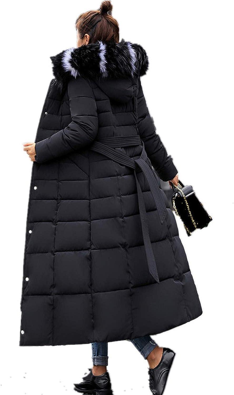 Verde HX Giacca Imbottita Lunga Giacca Invernale Donna Spessa Giù Parka Slim Collare di Pelliccia Inverno Caldo Cappotto Parka da Donna 5