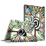 Fintie iPad Pro 9.7 Case - 360 Degree Rotating Stand Case with Smart Cover Auto Sleep / Wake Feature for Apple iPad Pro 9.7 Inch (2016 Version), Love Tree